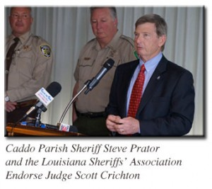 Louisiana Sheriff's Association Endoreses Judge Scott Crichton